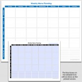 Weekly Meal Planning with Shopping List – 8 1/2″ x 11″ (h)
