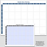 Weekly Meal Planning – 8 1/2″ x 11″ (h)