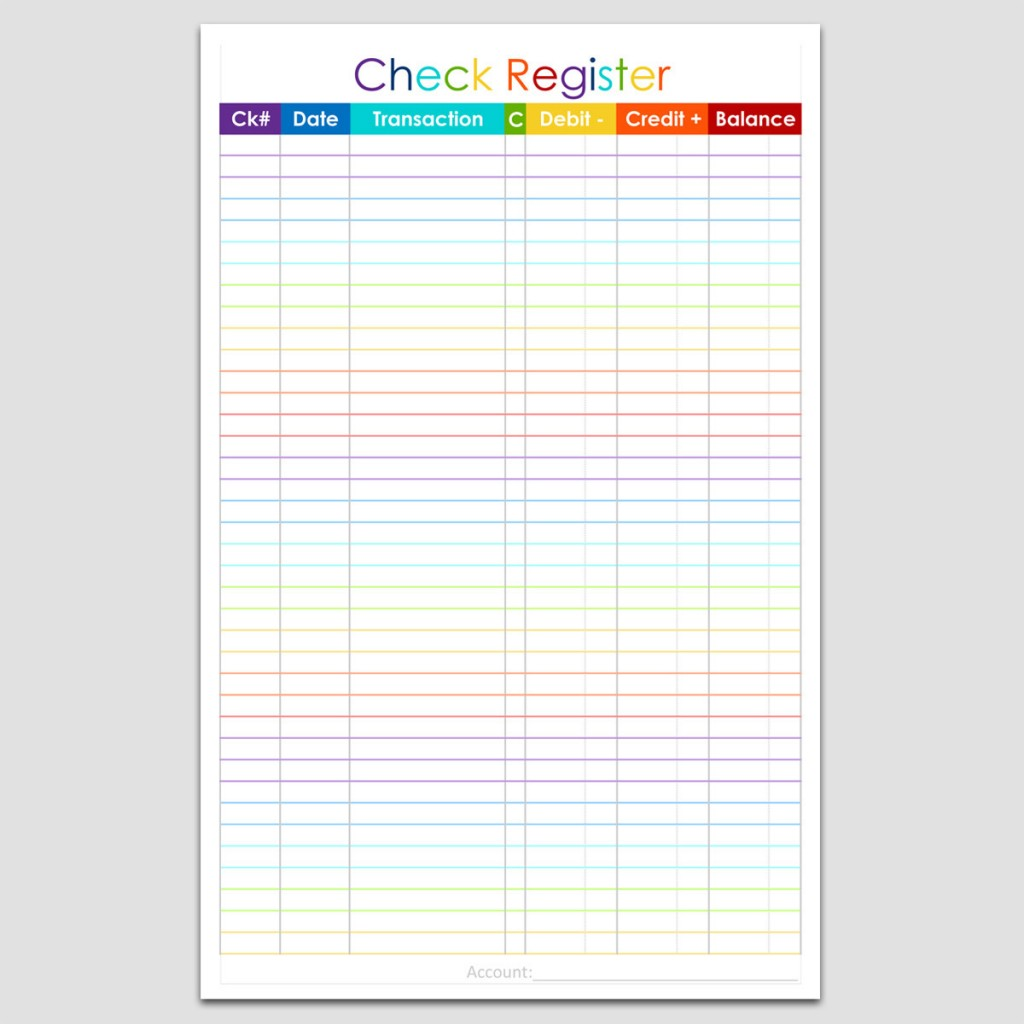 Checkbook Register 5 12 x 8 12 – Check Register Template