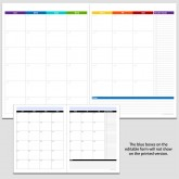 Monthly 2-Page Perpetual Calendar with Note & Tasks – 8 1/2″ x 11″