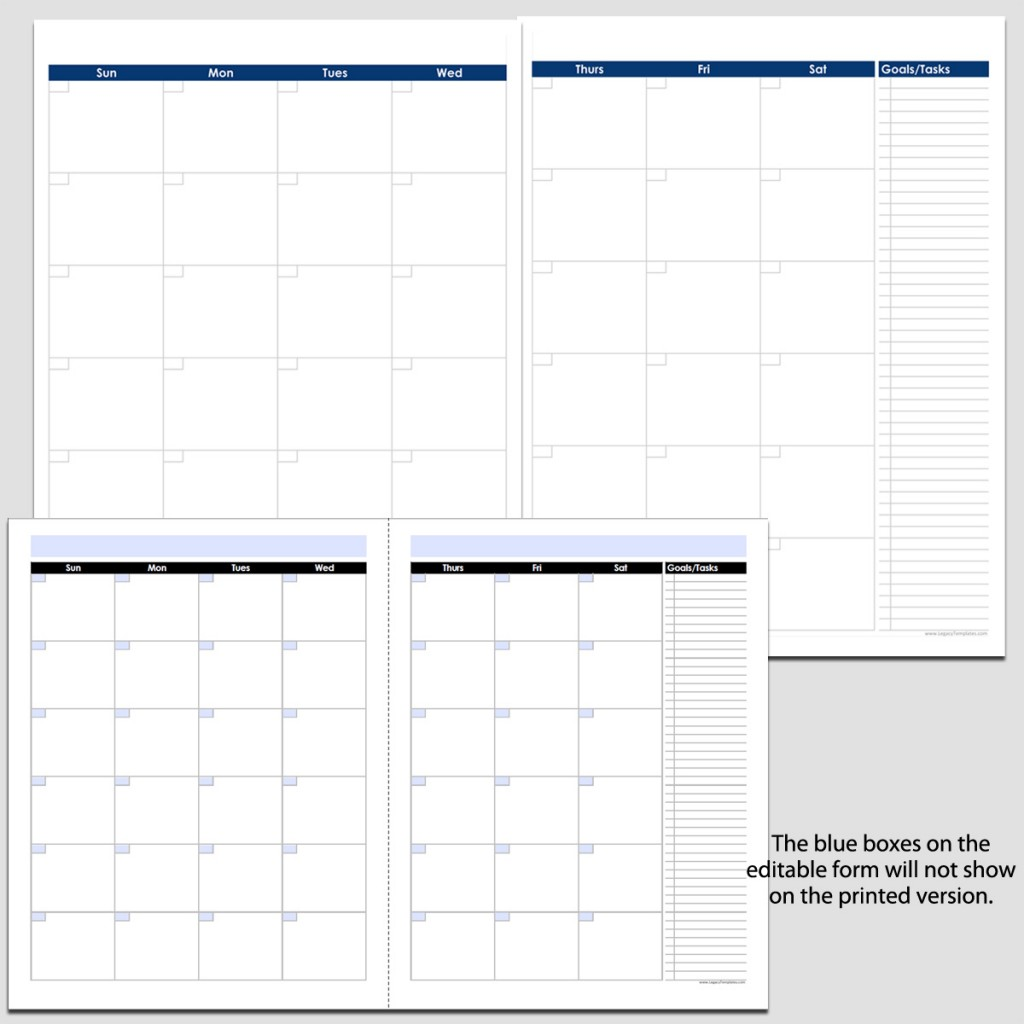 Monthly 2 page perpetual calendar with tasks 8 12 x 11 legacy monthly 2 page perpetual calendar with tasks 8 12 saigontimesfo
