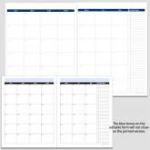 Monthly 2-Page Perpetual Calendar with Tasks – 8 1/2″ x 11″
