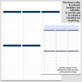 6 Column Checklist in Portrait – 8 1/2″ x 11″ B