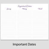 Important Dates in Landscape – 8 1/2″ x 11″ L-3C