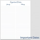 Important Dates in Portrait – 8 1/2″ x 11″ L-2C