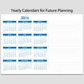2015 – 2025 Planning Sheets with Yearly Calendar – 8 1/2″ x 11″