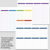 3 Checklists in Landscape Bundle – 8 1/2″ x 11″ B