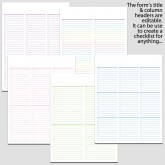 8 Checklists in Landscape & Portrait Bundle – 8 1/2″ x 11″ L
