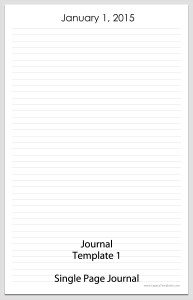 Journal Template 1