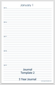 Journal Template 2