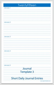 Journal Template 3
