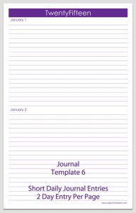 Journal Template 6