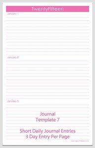 Journal Template 7