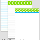Printable Stationary Paper with a Trellis Moroccan Pattern P0102 – 5.5″x8.5″