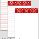 Printable Stationary Paper with a Endless Circles Pattern P0103 – 5.5″x8.5″
