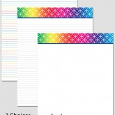 Printable Stationary Paper with a Endless Circles Pattern P0103 – 8.5″x11″