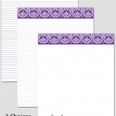 Printable Stationary Paper with a Damask Pattern P0104 – 8.5″x11″