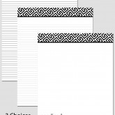 Printable Stationary Paper with a Fret Pattern P0107 – 8.5″x11″