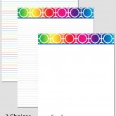 Printable Stationary Paper with a Circle Lattice Pattern P0128 – 8.5″x11″