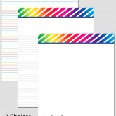 Printable Stationary Paper with a Diagonal Stripes Pattern P0144 – 8.5″x11″