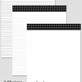 Printable Stationary Paper with a Chevron Pattern P0160 – 8.5″x11″