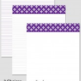 Printable Stationary Paper with a Fleur De Lis Pattern P0161 – 8.5″x11″