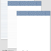 Printable Stationary Paper with a Greek Key Pattern P0108 – A4