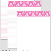 Printable Stationary Paper with a Damask Pattern P0113 – A4