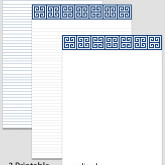 Printable Stationary Paper with a Greek Key Pattern P0108 – 5.5″x8.5″