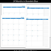 2019 & 2020 24-Month 2-Page Calendar – 8.5 x 11
