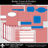 Red Binder Cover P0100 – Reg 8.5″x11″