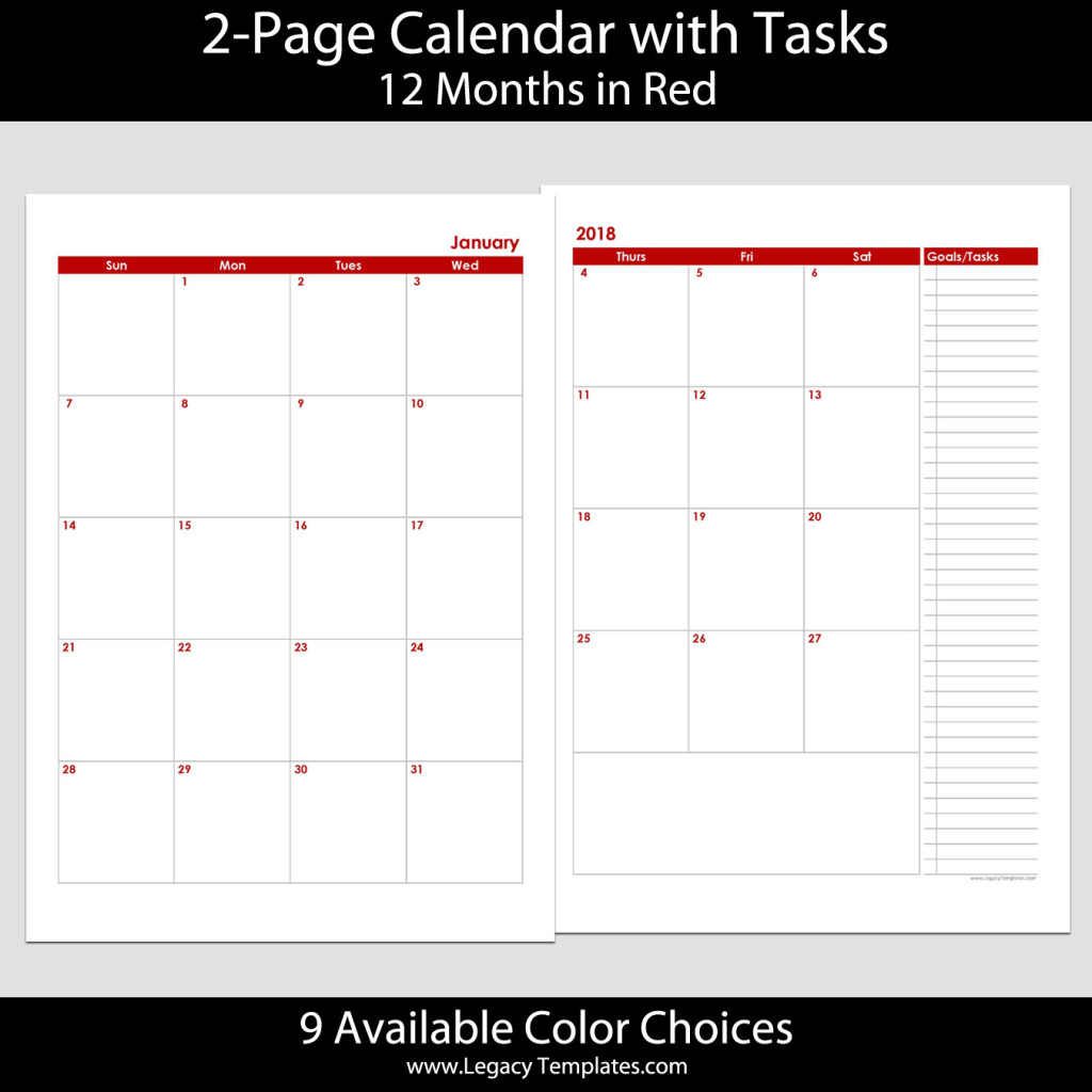 Calendar In : Months page calendar a legacy templates