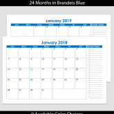 2018 & 2019 24-Month Landscape Calendar with Tasks – 5.5 x 8.5