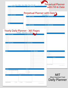 MIT (most important tasks) Planner Styles