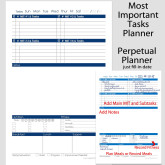 Perpetual Fill-in Date MIT Daily Planner – 5.5 x 8.5