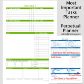 Perpetual MIT Daily Planner with Date & Extra Tasks – 5.5 x 8.5