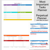 Perpetual MIT Daily Planner with Date – 5.5 x 8.5
