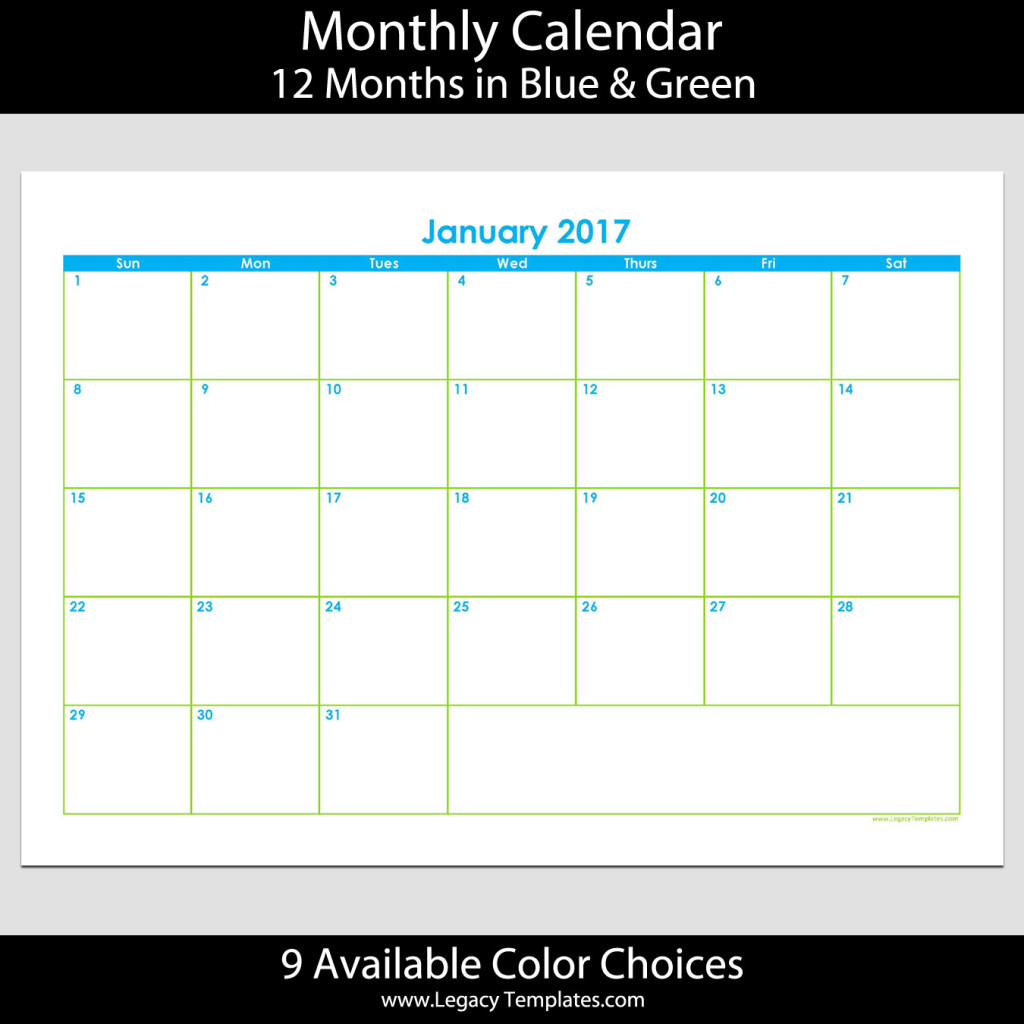 printable calendar for 2017 the 12 monthly calendars are in a pdf ...