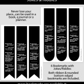 Jokes & Riddles Bookmark Set of 6 – JK0001