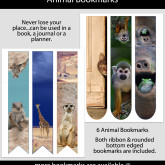 Animal Bookmarks – Set of 6 – KD0003
