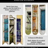 Doors & Windows Bookmarks – Set of 6 – MSC0005