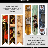 Padlocks Bookmarks – Set of 6 – MSC0006