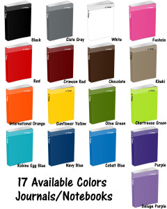5 Things Journal and the Available Colors