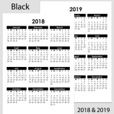 2018 & 2019 Yearly Calendar – A4