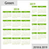 2018 & 2019 Yearly Calendar – A5