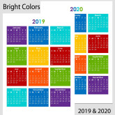 2019 & 2020 Yearly Calendar – A5